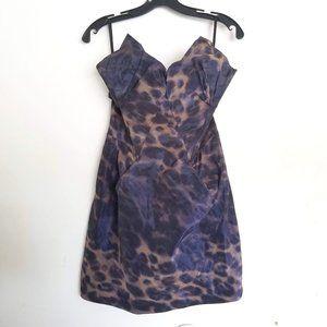 All Saints Spitalfields Sleeveless Leopard Dress